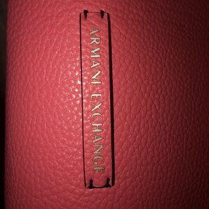 A/X Armani Exchange tote bag Reversible Pink/Tan
